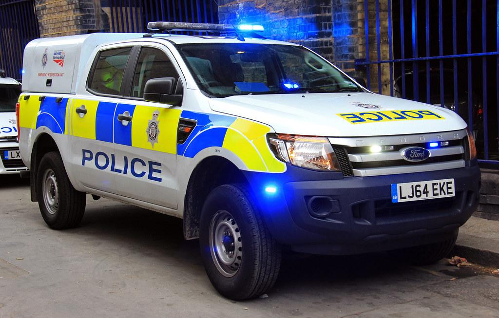 British Transport Police New Ford Ranger Emergency Interve