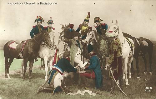 Napoleon blessé à Ratisbonne