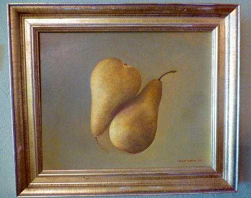 "Les Poires d'Or, oil on panel, 8X10"", Talbot Hopkins, 2011, $650."