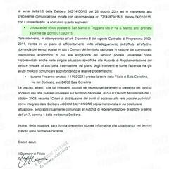 decreto chiusura ufficio postale san marco