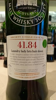 SMWS 41.84 - Laundry lady lets hair down