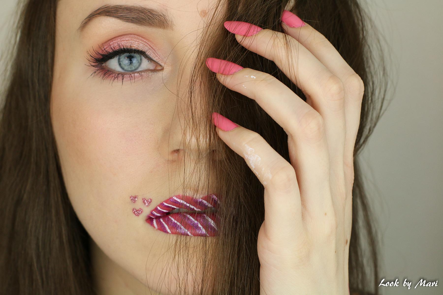 6 ystävänpäivä meikki ideat ideoita tutoriaali lip art rimmel provocalips 200 sävy swatch swatches