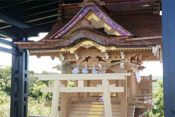 復建後的高士小神社。(圖片來源:文化部)