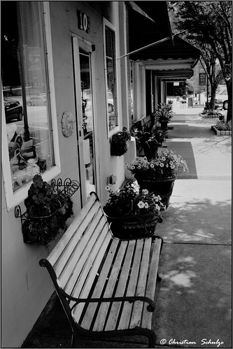 Downtown Norcross Bench BW | by ChristianRock