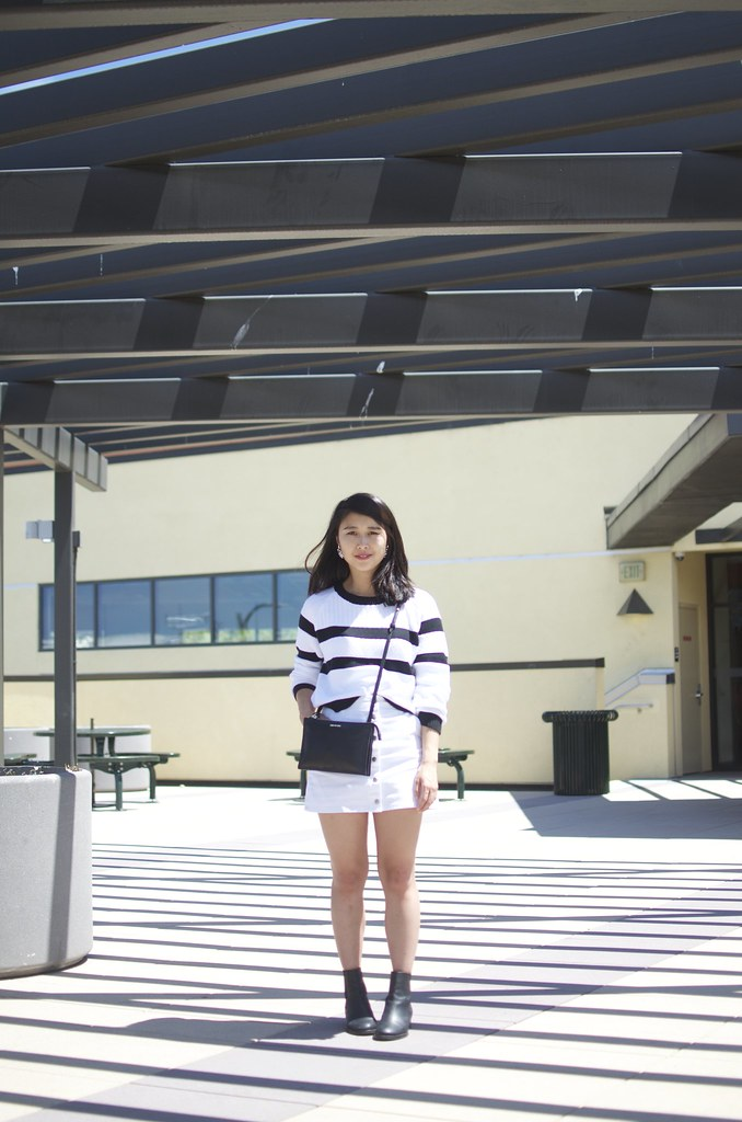 Banana Republic cropped sweater, Forever 21 a-line skirt, Fashion Blog, San Francisco Fashion Blog