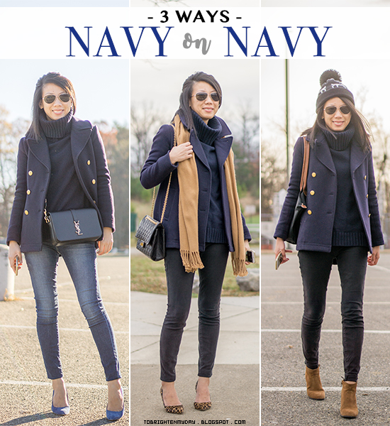 3 ways to wear: navy on navy