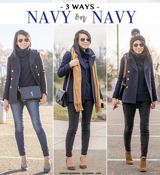 3 ways to wear: navy on navy