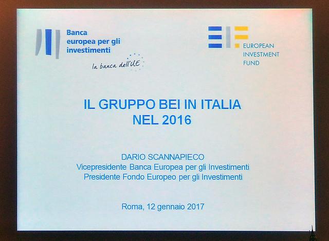 Conferenza stampa sulle attività della BEI in Italia nel 2016