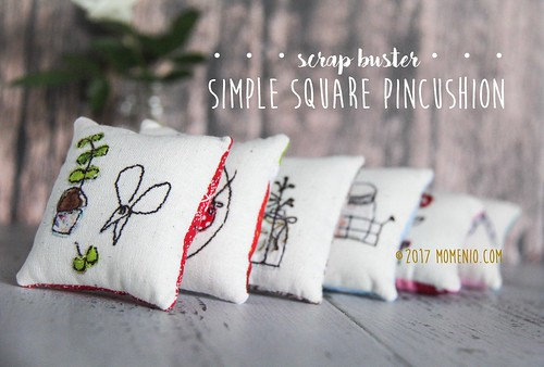 simple square pincushion | by momenio