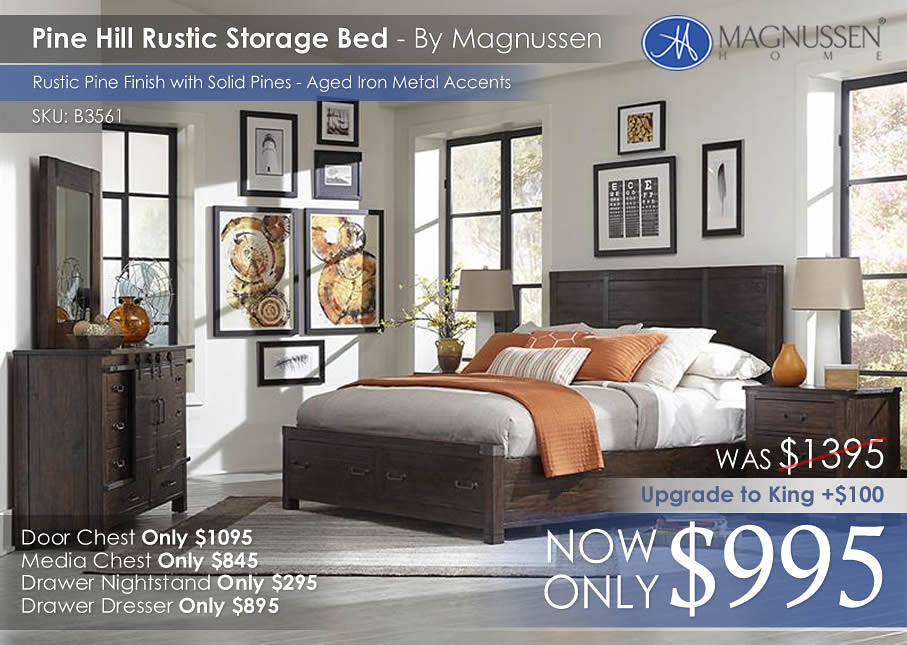 Pine Hill Rustic Storage Bed IMG B3561