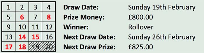 Lotto 19th Feb