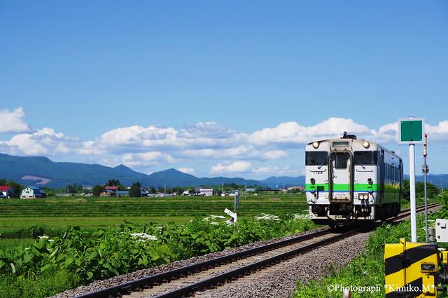 宗谷本線北永山駅付近