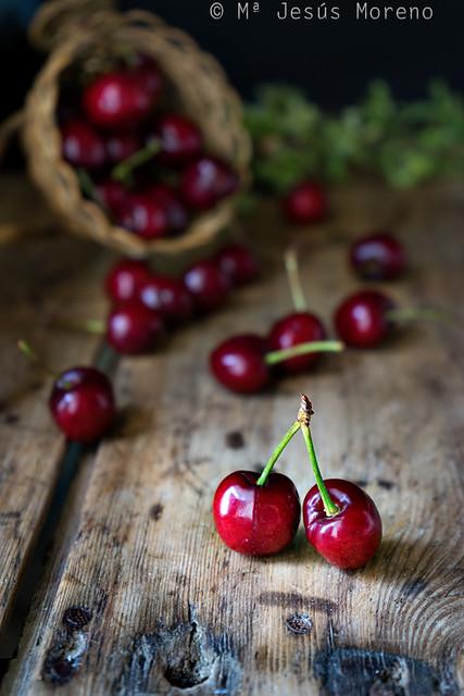 bodegón de cerezas