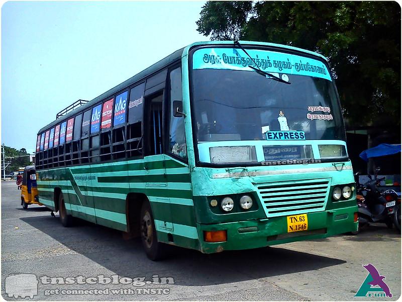 TN-63N-1546 of Tirupattur Depot Route Singampunari - Rameswaram via Tirupattur, Paramakudi, Ramanathapuram.