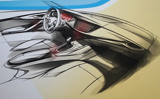 Opel Astra K Design-Skizze
