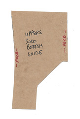 Uppers template - top of foot