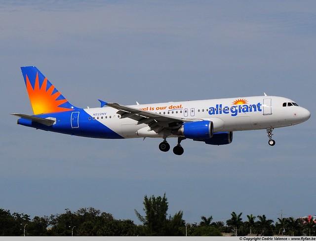 N222NV - A320-214 Allegiant - FLL 30-01-2016