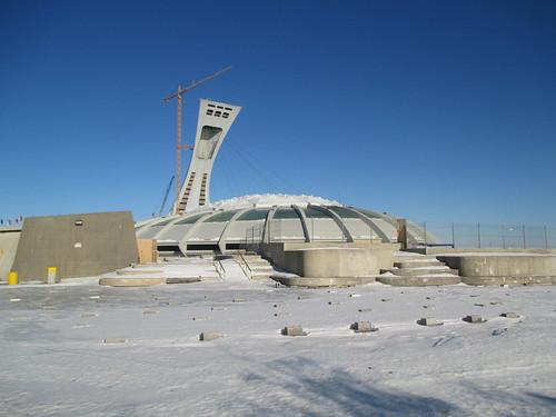 Stade Olympique/Olympic Stadium (4) #montreal #montréal #stadeolympique #olympicstadium #architecture #hochelagamaisonneuve #latergram