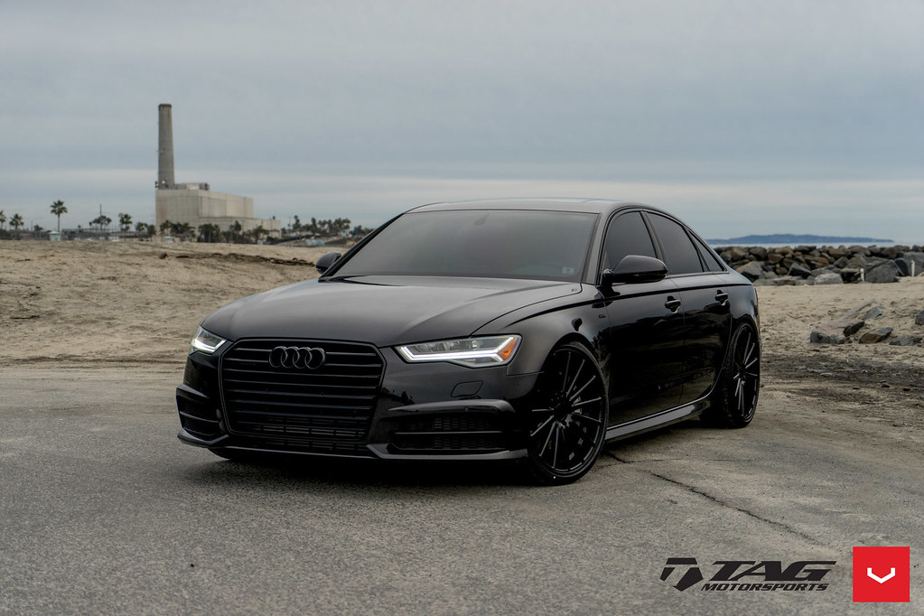 Audi A6 Vfs 2 Custom Black 169 Vossen Wheels 2017 10
