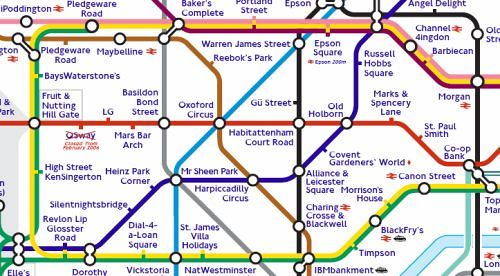 Quot Sponsored Quot London Underground Tube Map From My London