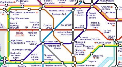 "Sponsored"" London Underground Tube Map | From my London Und… | Flickr"