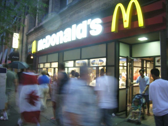 the bank street mcdonald s in ottawa on canada day flickr