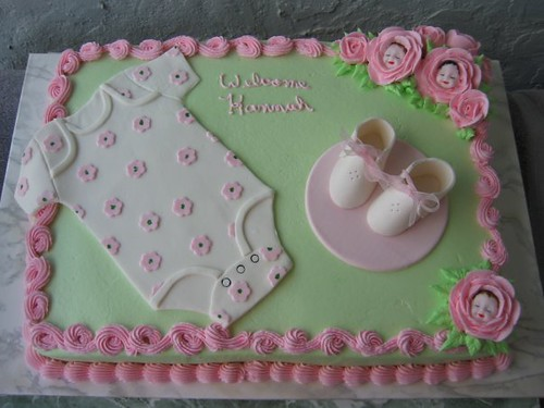 baby girl onesie shower cake sue dye flickr
