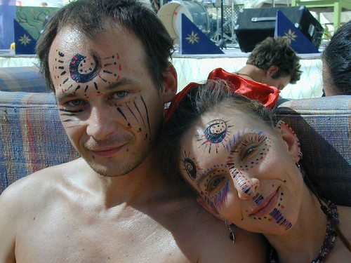painted faces in center camp | by daerice