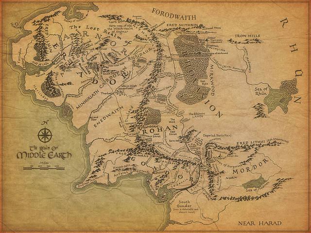 Middle Earth Map | Ooo, good for wallpaper! from cdevroe | Kevan ...