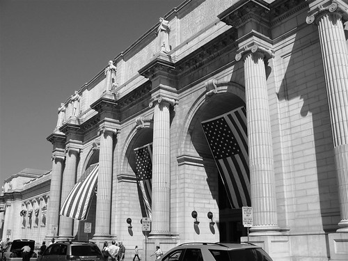 Flags ruffled by the wind at Union Station | by Team Frosick