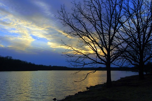 Sunset Trees by Shawnee Mission Lake | by ricko