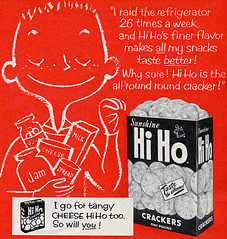 Sunshine Hi Ho Crackers Advertisement 1957 | by Roadsidepictures