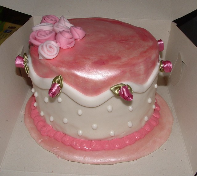 Dream Design Cake Company : pink wedding anniversary cake this was a re-enactment of ...