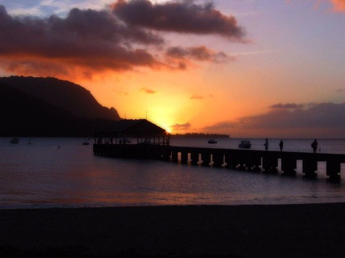 Hanalei Bay at sunset | by IrenaS