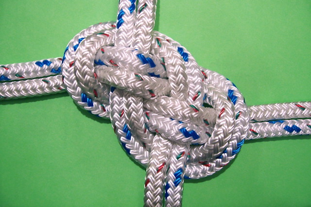 Double carrick bend knot