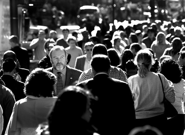 Free Images Black And White People Crowd Statue: A Face In The Crowd