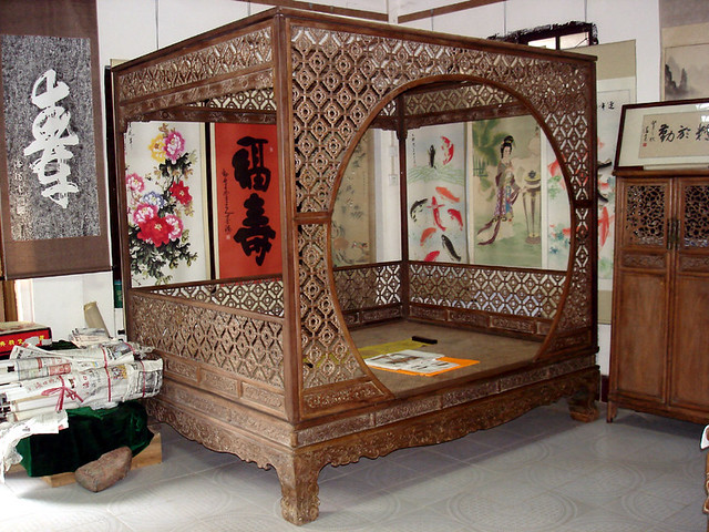 Ming Dynasty Bed This Bed Was On Display At An Antique