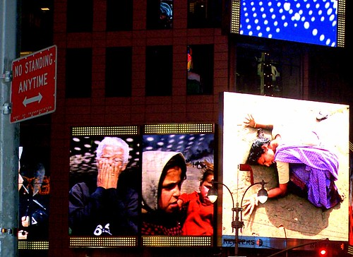 Halting images in Times Square | by Harpersbizarre