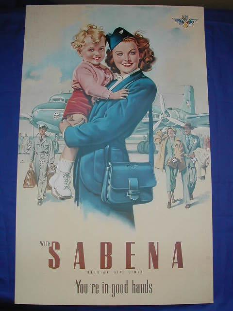 sabena old publicity poster - 1