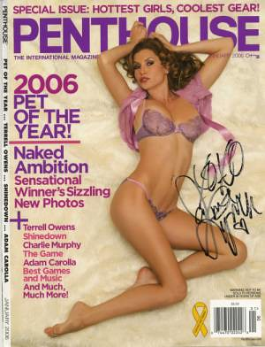 penthouse cover autographed cover of the 2006 pet of the
