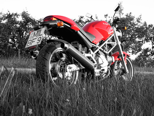 My Ducati Monster (Photoshopped) | by picknicker