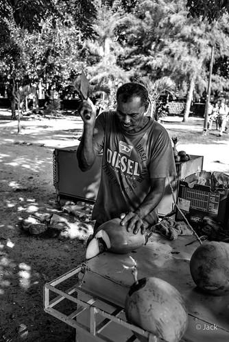 Préparation noix de coco