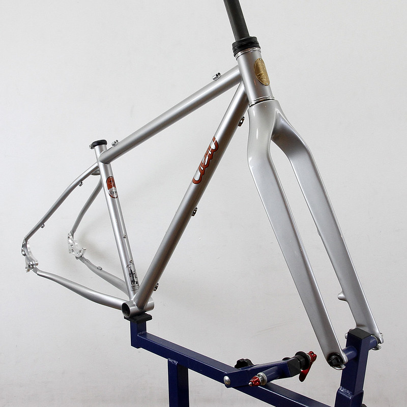 Cielo Mountain Frame. Niner fork custom paint by Swamp Things.
