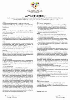 CUORE DELLA PUGLIA-Avviso Pubblico