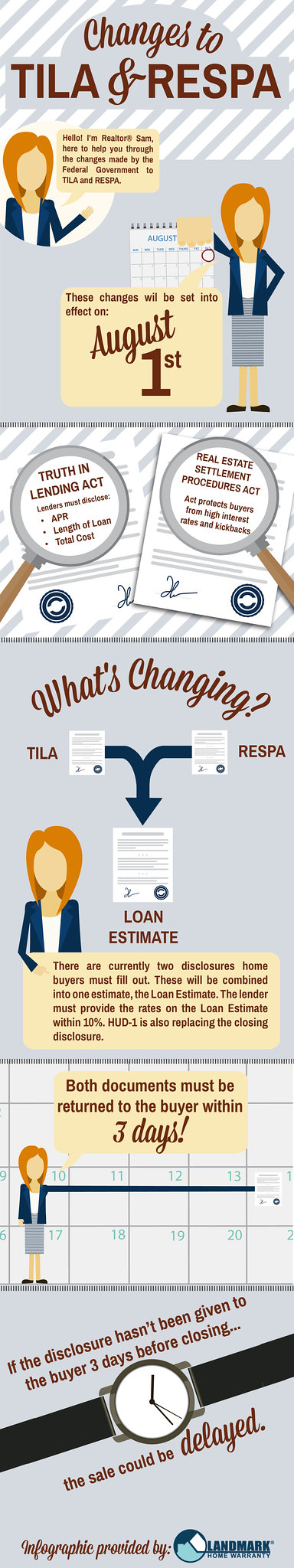 Changes to TILA RESPA