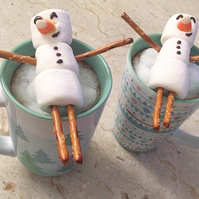 Marshmallow Snowmen Hot Cocoa