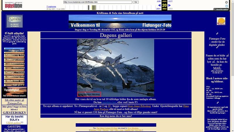 nettsted med bilder fra flatanger