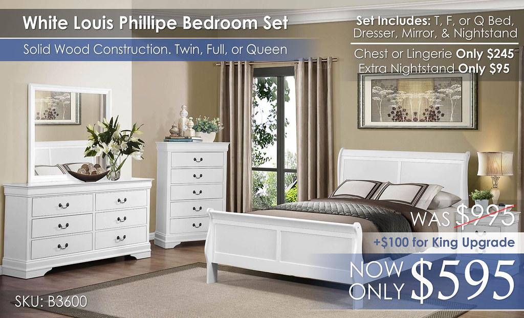 Homelegance White Louis Phillipe 3600