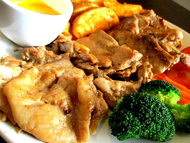 PAUSE salted egg chicken chop