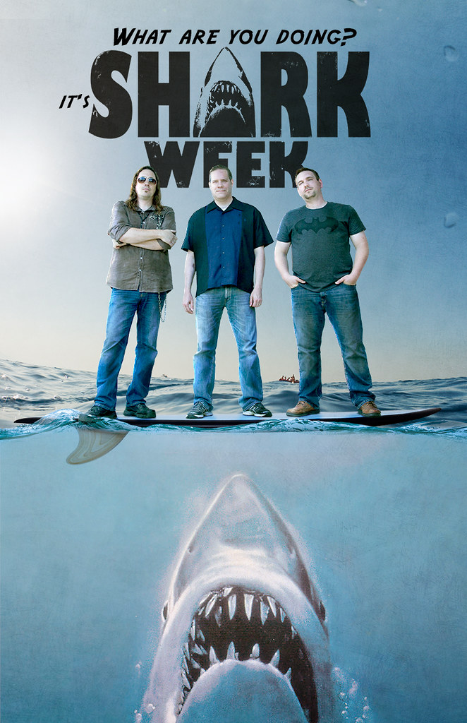 shark week band poster 2 the 2nd version of the poster for flickr